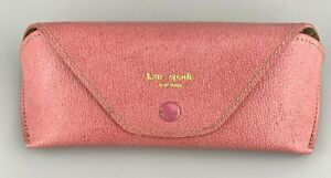 Kate Spade New York Sunglasses Case Pink Faux Leather Softcase Small