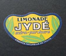 Étiquette LIMONADE JYDE extra pur sucre lemonade label