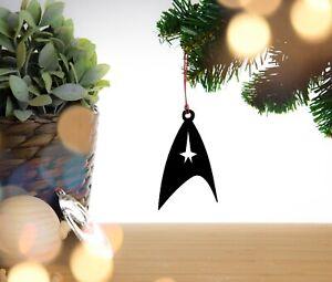 Star Trek Logo / Enterprise Christmas Decoration, Hanging Decoration, Tree Dec