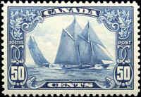 Mint NH Canada 50c 1929 VF Scott #158 King George V Scroll Stamp