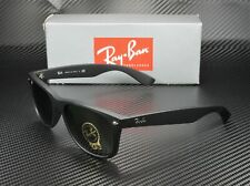RAY BAN RB2132 622 New Wayfarer Black Rubber Crystal Green 52 Unisex Sunglasses
