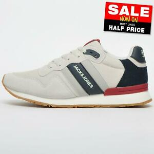 Jack & Jones Stellar Men's Retro Running Shoes Classic Casual Trainers Grey