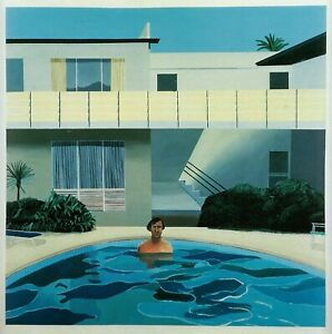 Nick Wilder in Pool David Hockney print in 11x14 inch mount ready to frame