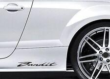 2x Side Skirt Stickers fits Suzuki Bandit Car Graphics Premium Decals BL93