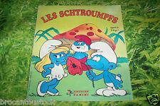 ALBUM VIGNETTES PANINI LES SCHTROUMPFS 180 images dont 74 collées DE 1983
