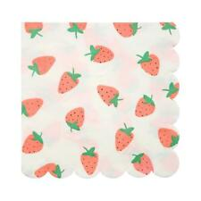 Brand New Meri Meri Strawberry Large Napkins Party Supplies Serviettes Fruit