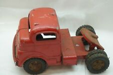 VINTAGE STRUCTO TRUCK CAB TOY SEMI TRACTOR PRESSED STEEL ORIGINAL RED PAINT d
