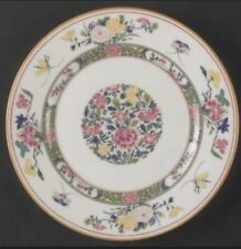 "Salad plate Puiforcat Limoges ""Tang Hai' multicolor floral motif and gold trim"