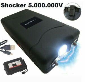 Taser Shocker de Sécurité Choc Électrique 5.000KV Lampe LED Étui Câble USB tazer