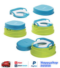 4 in 1 Potty Training Toilet Kids Toddler Trainer Seat Portable Steps Stool Soft