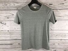 Gap Womens Gray Polka Dots Designed & Crafted Short Sleeve Shirt Size Small