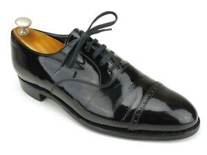 Polo Ralph Lauren by Crockett Jones Black Patent Leather Captoe Oxfords 8.5 D US