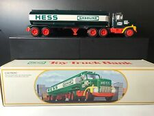 Vintage 1984 Hess Toy Truck Bank With Original Box - Tested and Working!