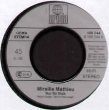 """MIREILLE MATHIEU ~ NUR FUR DICH / VOR UNS LIEGT EIN LANGER WEG ~ 1983 GERMAN 7"""""""