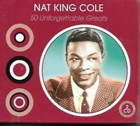 Nat King Cole - 50 Unforgettable Greats 2CD NEW/SEALED