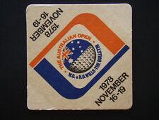 THE AUSTRALIAN OPEN GOLF 1978 NOVEMBER 16-19 W.D. & H.O. WILLS BULLETIN COASTER