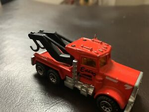 1981 MATCHBOX LESNEY SUPERFAST #61 EDDIES PETERBILT TOW WRECK TRUCK BK LETTERS