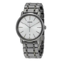 Rado Men's Watch Diamaster XL Quartz Silver Tone Dial Ceramic Bracelet R14072112