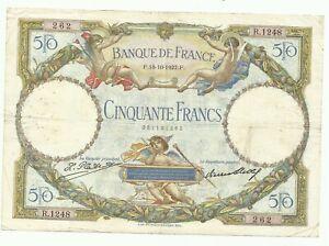 """50 FRANCS LOM AVEC INSCRIPTION """"LUC OLIVIER MERSON"""""""