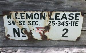 Vintage Conoco Oil Lease Sign