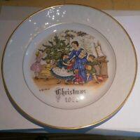 Bone China Royal Worcester 1980 Christmas Plate - Christmas Eve