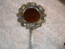 Fancy Tinware Hand Mirror