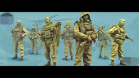 1:35 resin soldiers figure model Russian special forces soldiers 4 man R2364/65