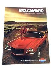 1973 Chevrolet Camaro 12-page Original Car Sales Brochure Catalog - Z28 Rally