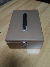 Vintage Rockaway Metal Products Corp.  Metal Locking File Box With Key Steel Box