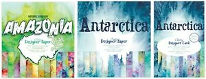 "Clarity Stamps - Antarctica or Amazonia 8"" x 8"" Paper Pack or 5 x 7 Card pack"