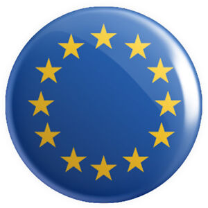 EU European Union Flag BUTTON PIN BADGES 25mm 1 INCH Country Continent