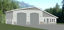 56x48 2 RV Garage - 2 Bedr 1 Bath - 2,649 sq ft - PDF Floor Plan - Model 2A