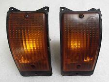 Porsche 924 924S 944 Oem Front Bumper Turn Signal Assembly Left & Right PAIR