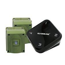 GUARDLINE Long Range Wireless Driveway Alarm System w/ Two Motion Sensors NEW