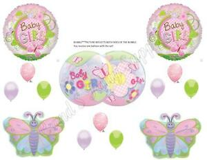 IT'S A GIRL BUTTERFLY Baby Shower Balloons Decoration Supplies Luncheon Outdoor
