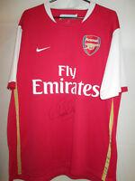 Arsenal 2006-2008 Alex Song Signed Home Football Shirt COA /21608