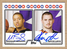 08-09 2008-09 Topps RPS Michael Beasley Kevin Love Dual Auto RC Autograph Rookie