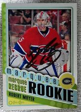 Montreal Canadiens Robert Mayer Signed 12/13 O-Pee-Chee Foil Rookie Card Auto