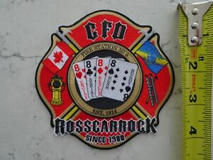 CALGARY FIRE ROSSCARROCK STATION 8 PATCH ALBERTA AB CANADA CANADIAN 2018