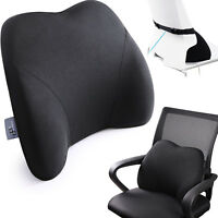 LOWER BACK LUMBAR Support Cushion Car Chair Memory Foam Pillow Tailbone Pain Rel