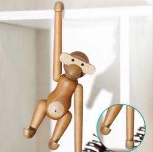 Holzaffe Tier Denmark Teakholz Holzfigur Dekofigure Holz Affe Limbaholz Toys DE