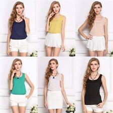 Unbranded Chiffon Plus Size Sleeveless Women's Tops & Shirts