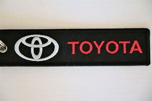 Toyota original key holder Embroidered Keychain Ring Fob NOT metal keyring 7gr