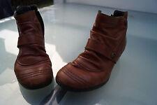 RIEKER Damen Winter Schuhe Boots Stiefeletten warm Gr.38 weiches Leder braun *2