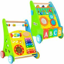 Wooden Activity Walker Push Along for Babies & Toddlers - 9-18 Months - boppi