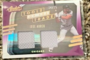 2021 Panini Absolute Baseball Jose Abreu of the Chicago White Sox Dual Game Used