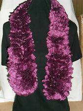 Ladies Hand Knitted Tango Glitz Scarf Purple Approx 90cm Long
