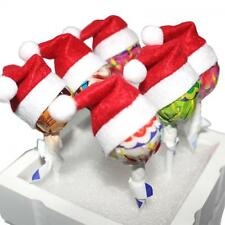 6pcs Decoration Festival Topper Wrap Santa Claus Hat Lollipop Cover Christmas