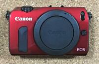 Canon EOS M 18.0MP Mirrorless Digital Camera  Body -Red