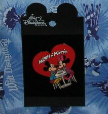 Disney Pin Carded Mickey Minnie Mouse Heart